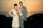 end of the world sunset wedding